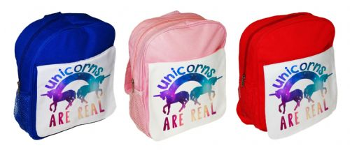 Unicorns Are Real Cute Funny Children's School Bag Rucksack Backpack